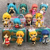 pvc 12 pcs al por mayor-12 PC / juguetes Lote Hatsune Miku Nendoroid animado de colección figura de acción de PVC para el regalo de Navidad con caja al por menor