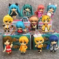 hatsune miku anime figürleri toptan satış-Perakende kutu ile yılbaşı hediyesi için 12 Adet / Lot Hatsune Miku Nendoroid Anime Tahsil Action Figure PVC oyuncaklar