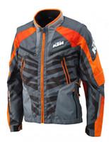 ingrosso giacca fuori dai vestiti-Nuova giacca ktm oxford moto off-road jacket da corsa abbigliamento da uomo giacca off-road antivento con protezione impermeabile