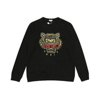 Wholesale tiger head design resale online - hot sell Mens Luxury Sweaters Brand Tiger Head Embroidery Sweatshirts O Neck Mens Design Pullover Luxury Hoodie Sweatershirts B103699V