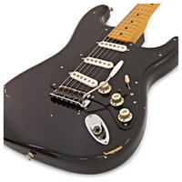 tienda de encargo envejecida al por mayor-Aged Relic Custom Shop David Gilmour strat Guitarra Black relic China Electric Guitar