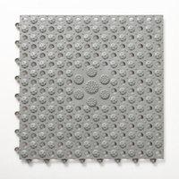 pvc masaj paspasları toptan satış-Masaj Darbelere Drenaj Delikler Ev Zemin Kat Kare Mat Modern'le Duş Tuvalet Kaymaz Ekleme