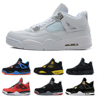 Wholesale retro sport basketball shoes online - Air Ultra s IV Retro Mens Basketball Shoes For Women White Cement Raptors Black Cat Bred Fire Red Designer Trainers Sports Sneakers