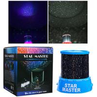luces led coloridas estrellas del cielo estrella al por mayor-Lámpara de luces de noche estrellada LED Increíble colorido de Star Sky Regalo Romático Cosmos Sky Star Master Proyector