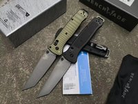 Wholesale New Arrivals Benchmade BM GY camping Folding Knife CPM M4 Blade CNC Aviation aluminum alloy handle Hunting Survival Pocket Knives