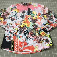 Wholesale printed body dresses for sale - Wholesalethe New Style Whole Body Floral Printing Mens Designer Dress Shirts Fashion Casual Medusa Shirt Hot Sale Men Silk Shirt