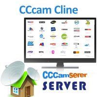 empfängerboxen großhandel-CCcam Server 1-Jahres-Abonnement Europa Großbritannien Italien Spanien Deutschland CCcam 7 Cline IKS-Konto mit Unterstützung der kostenlosen Testversion CCCAM Receiver IPTV Box