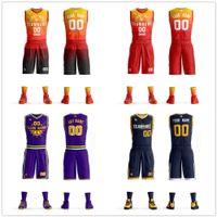 kit crianças diy venda por atacado-Barato Personalizado Men Kids Basketball Set Uniformes kits de Basquete universitários Jerseys Esportes Ternos DIY Personalizado Fatos de Treino