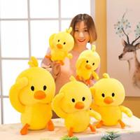 sıcak yeni satan oyuncak toptan satış-Yeni sıcak satmak küçük sarı ördek peluş oyuncaklar Çocuk yastık Doldurulmuş Hayvanlar bebekler Çocuk hediye toptan