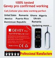 desbloquear iphone venda por atacado-Novo MODE UNLOCK GEVEY pro V2.4.1 Nano iccid + MCC Desbloquear cartão para iphone xs max / xr / xs / 8/7/6 4g ios 12.4.1