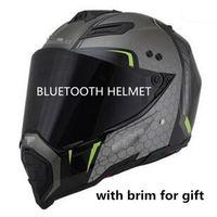 mini hoparlör bluetooth toptan satış-Bluetooth kask motosiklet 2018 DOT BT hoparlörler motocross müzik dinlemek bağlantı apple veya android yol çapraz kask