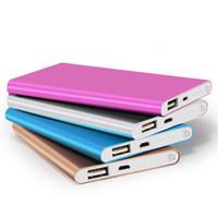 karikatür mobil şarj cihazı toptan satış-QiChen 4000 mAh Ultra Güç Bankası Taşınabilir İnce Şarj Harici Pil Samsung S10 S8 iPX Xs Max Tablet PC için