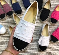 tembel tuval ayakkabıları toptan satış-Kadın Flats loafers Espadrilles Yeni geldi Lüks moda Marka kadınlar düz tuval Kalın alt Tembel Hamile kadın Basit seyahat ayakkabı