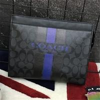 venda de sacos de homens venda por atacado-Designer de luxo Mens Bags Bolsas De Designer De Moda Sacos De Couro Venda Quente New Arrival Moda Hot Sale Homens Pasta Bolsas De Estilo Quadrado Preto Azul