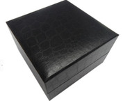 Wholesale flip fashion watches resale online - Spot flip watch box paper black watch box square paper watch storage box