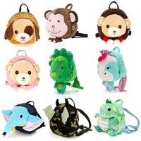 ingrosso bambino guinzaglio zaino-New Kids Baby Safety Harness Backpack Guinzaglio Child Toddler Anti-lost Borsa per animali Cartoon 20 x 9 x 23cm
