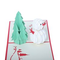 Wholesale 3d house card for sale - Group buy Christmas Pendant Decors Houses Details About D Pop Up Card Christmas Greeting Baby Gift Holiday Happy New LL
