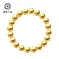 Wholesale pearl bracelets resale online - SHENSS Quality Shell Pearl Bracelet Elastic Women s Bracelets of Various Sizes Yellow color