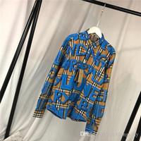 grafiti gömlek erkek toptan satış-19ss BBR Graffiti Paris Bluz eğlence Tee gömlek Nefes uzun Kollu Tişört Erkek Kadın bluzlar Casual Açık Streetwear Tişörtleri