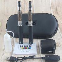 Wholesale starter kit mt3 ce4 resale online - Double eGo T CE4 E Cigarette Starter Kits eGo T Battery mah CE4 Atomizer Electronic Cigarette Zipper Case vs evod mt3 x6