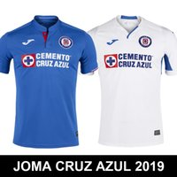 tops für clubbing großhandel-NEU 2019 MAQUINA CELESTE DE CRUZ AZUL JOMA Mexiko-Club Liga MX CDSC Cruz Azul Trikots Fußball Trikots Oberbekleidung