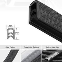 stoßfänger strip autotüren großhandel-Universal 5M Autotür Antikollisionsleiste mit Stahlscheibe Stoßstangenverkleidung Kantenschutzleiste Dichtungsschutz Decora Styling