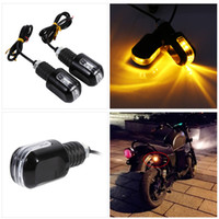 Wholesale Freeshipping Car Styling Pair of Motorcycle Handle Bar End LED Turn Signal Indicator Amber Light Motocicleta