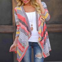 Wholesale tribal prints top resale online - New Women Tops Fashion Long Cardigan Female Stylish Collarless Long Sleeve Cardigan Tribal Print Asymmetrical Cardigan