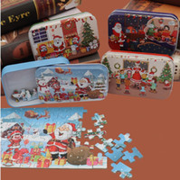 Wholesale educational christmas gifts for children resale online - Christmas Jigsaw Puzzle Modern Wooden DIY Small Gifts Children Hand Made Santa Puzzle Cartoon Educational Gift Xmas Party Favor For Kids