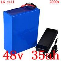 bateria de iões de lítio telemóvel venda por atacado-48 1000V 2000W ebike scooter de 48V 35AH 48V 35AH lítio íon bateria bicicleta elétrica uso LG carregador de celular com 5A