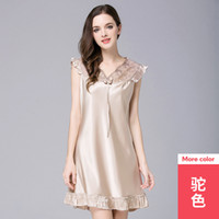 Wholesale sexy furnishing resale online - Yao Ting Female Sex Spinning Real Silk Pajamas Ma am Lace Sexy Night Skirt Home Furnishing Serve
