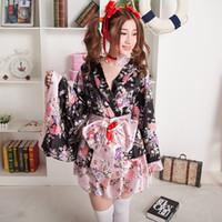 foto de garota grátis venda por atacado-Roupas de verão manga comprida e vestido curto Japanese Girl Lolita Cosplay Roupa japonesa estúdio Photo fêmeas com peças grátis