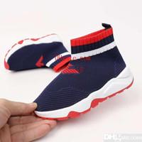 botas vermelhas para bebé venda por atacado-Sapato de bebê vermelho china preto boot boy athletic shoes sneakers moda menina tecido slip on shoe Eu 26-35 frete grátis
