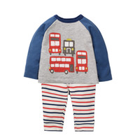 Wholesale jacket double breasted kids resale online - Boys Clothing Set with Animals Pattern Toddler Boy Clothes Kids Back to School Outfit Christmas Clothing Children Tracksuits