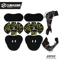Wholesale color paintball resale online - Cuirassier Motorcycle Elbow Pads MX Protector Shin Guards Pads protective Gears Paintball Skating Racing Riding Padding Color