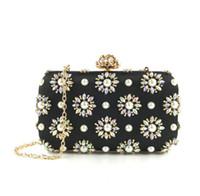 ingrosso le signore fatte a mano insaccano borse-2019 nuova borsa da sera per donna pochette da donna perline borsa a tracolla in rilievo di alta qualità moda perline borse