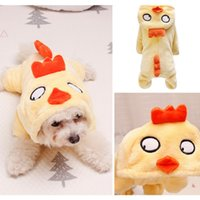 Wholesale chicken ornaments for sale - Group buy Pet Cats Dogs Winter Coats Jackets Flannel Four Legs Costume For Dogs Puppy Thickened Hoodie Coat Yellow Chicken