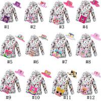 Wholesale hat girls clothes resale online - Surprise Girls Coat Summer Sun Protection Clothes Pieces Set Long Sleeve Hooded Jacket Crossbody Bags Bucket Hats Cartoon Suit C71705