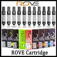 zerstäuber vape großhandel-Rove Vape Patronen 12 Geschmacksrichtungen für Option Pyrex Glas Vape Pen 0,8 ml Keramikspule Dickölzerstäuber für 510 Vorheizen Batterie DHL