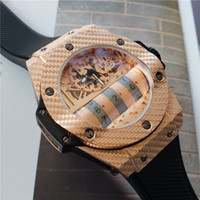 Wholesale unique luxury watches for sale - Group buy Swiss brand MP watch for men luxury high quality quartz watches rubber strap stainless steel unique designer case mens fashion watches