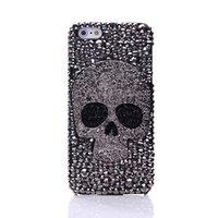 metall s4 telefon fall großhandel-Diamant metall saphire eye schädel telefon case für iphone 8 x xr xs max 7 6 6 s plus 5 samsung galaxy note s7 s6 rand plus s5 s4 s3