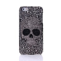 caixa do telefone do metal galáxia s4 venda por atacado-Diamante metal saphire eye crânio phone case para iphone 8 x xr xs max 7 6 6 s plus 5 s7 galaxy note s7 s6 borda mais s5 s4 s3