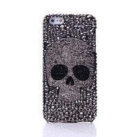 metal telefon kutuları galaxy s4 toptan satış-Elmas Metal saphire göz Kafatası telefon kılıfı IPhone 8 Için X XR XS Max 7 6 6 S Artı 5 Samsung Galaxy Not S7 S6 Kenar Artı S5 S4 S3