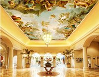 Wholesale european country kitchens resale online - WDBH d ceiling mural wallpaper custom photo European mythical figure oil painting room home decor d wall murals wallpaper for walls d