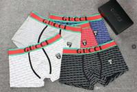 g diseño de letras al por mayor-Venta caliente Hombres G Ropa Interior Boxers Algodón Transpirable Carta Calzoncillos Pantalones Cortos Diseño de Marca de Lujo Cuecas Cintura Tight