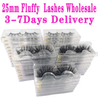 Wholesale natural messy eyelashes for sale - Group buy Mink Eyelashes mm Lashes Fluffy Messy D False Eyelashes Dramatic Long Natural Lashes Makeup Mink Lashes