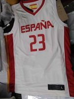 Wholesale real world for sale - Group buy real pictures World Cup Basketball Spain Espana Jerseys llull custom jersey embroidery basketball jersey any name any size