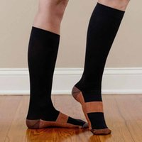 Wholesale anti fatigue compression socks resale online - Support Knee High Sock Foot Anti Fatigue Soft Pain Relief Miracle Copper Anti Fatigue Compression Socks Y7