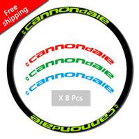 conjunto de roda 29er venda por atacado-17 set decalques MTB Rim adesivos duas rodas definido adesivos para andar de bicicleta 26er 27.5er 29er polegadas cannondal e raça decalques frete grátis