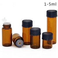 Wholesale essential oils bottle brown for sale - Group buy 1ml ml ml ml Amber Mini Glass Bottle Essential Oil Dropper Display Vial Small Serum Perfume Brown Sample Container Free DHL